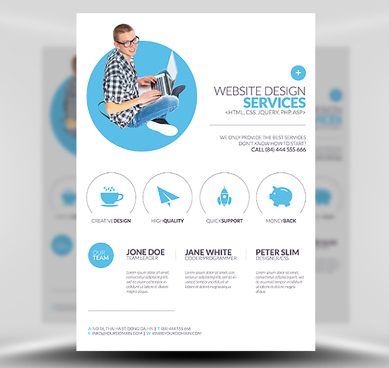 brochure for web design company - minimal web design flyer template flyerheroes