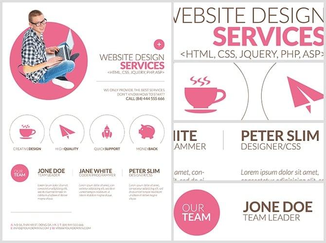 Minimal Web Design Flyer Template FlyerHeroes – Web Flyer