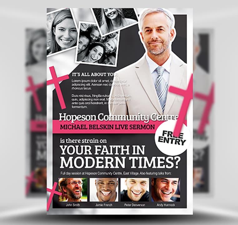 Modern Church Flyer Template - FlyerHeroes