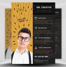 Mr Creative PSD Flyer Template 1