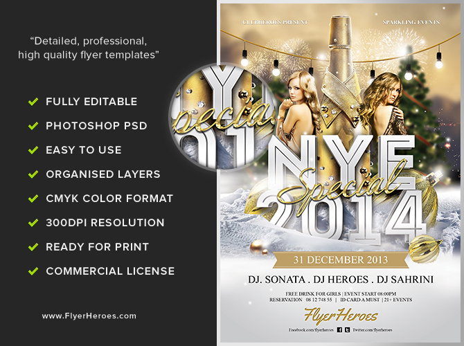 nye special flyer template flyerheroes. Black Bedroom Furniture Sets. Home Design Ideas