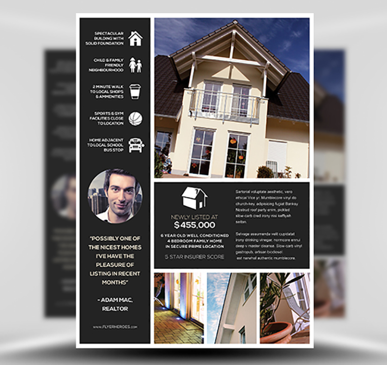 New Listing PSD Flyer Template 1