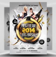 New Year Big Bash Flyer Template