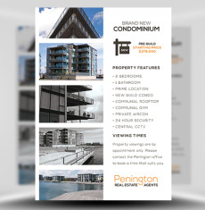 Penington Real Estate PSD Flyer Template 1