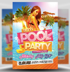 Pool Party Flyer Template 1