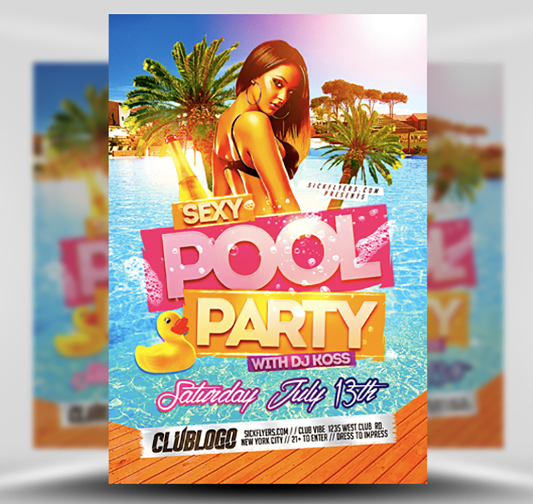 Free Pool Party Flyer Template from flyerheroes.com