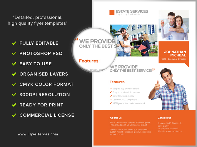 Real Estate Services Flyer Template - FlyerHeroes