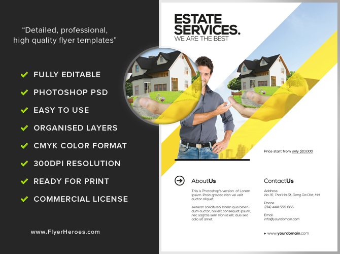 realtor flyer template flyerheroes. Black Bedroom Furniture Sets. Home Design Ideas