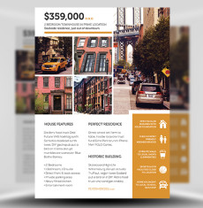 real estate flyer templates for photoshop  flyerheroes real estate flyer template