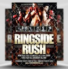 Ringside Rush PSD Flyer Template 1