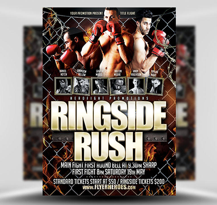 Ringside Rush Flyer Template - FlyerHeroes