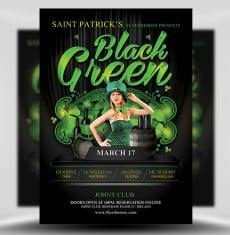 Saint Patrick Black Green Party 1