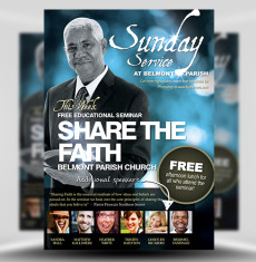 Church Flyer Templates for Photoshop - FlyerHeroes