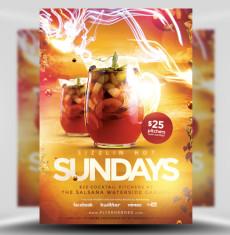 Sizzlin Sundays Flyer Template 1
