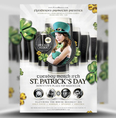 St Patrick's Day Black Beer Special Flyer Template 1