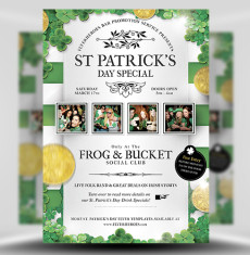 St Patricks Day Flyer Template 1