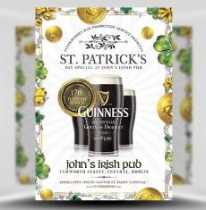 St. Patrick's Guinness PSD Flyer Template 1