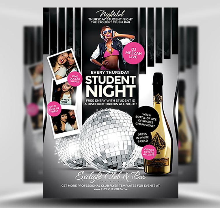 Student Night PSD Flyer Template 1