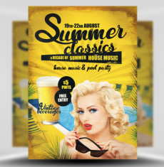 Summer Classics Flyer Template 1