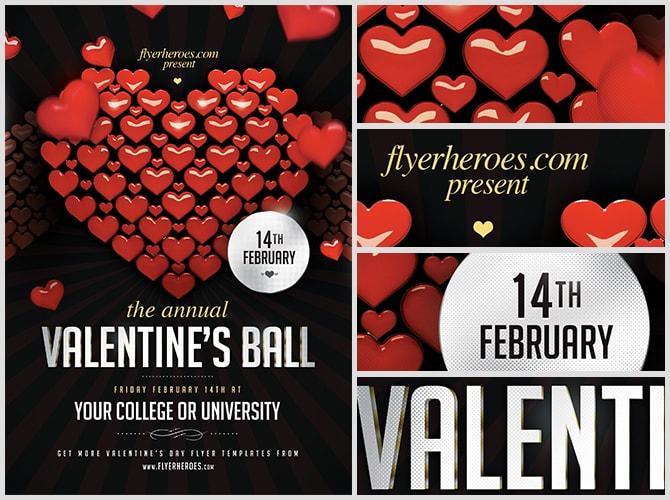 Valentine's Ball Flyer Template - FlyerHeroes