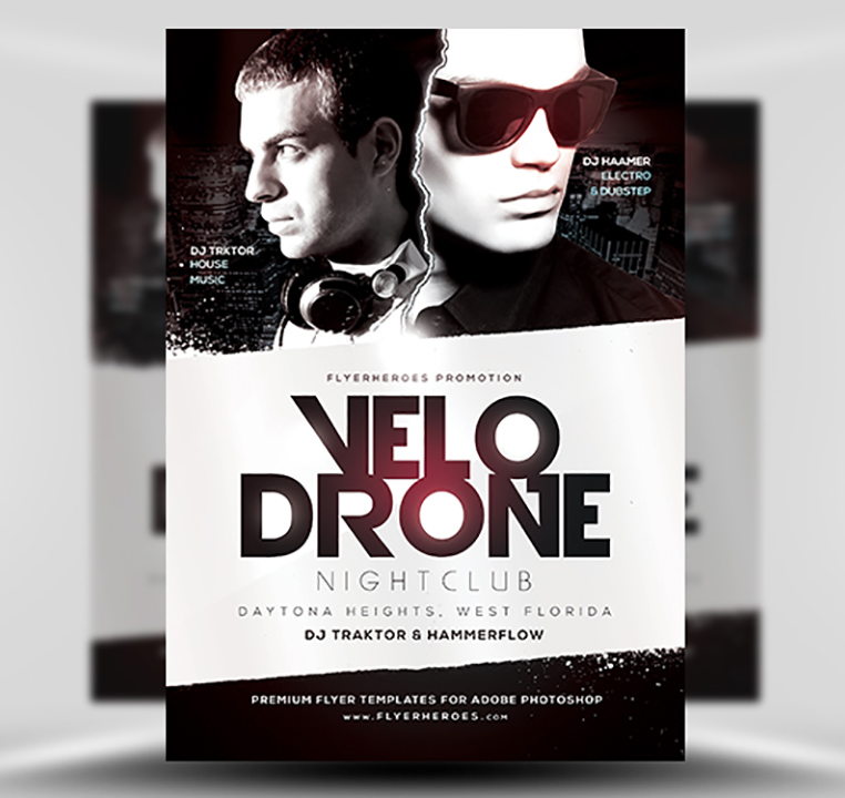 Velo Drone PSD Flyer Template 1