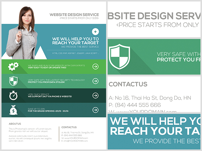 Website Flyer Template. flyer template brochure design editable a4 ...