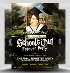 School's Out Forever Party Flyer Template