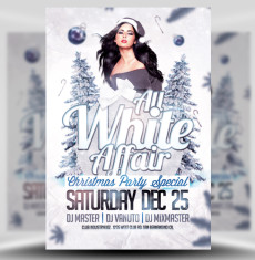 All White Affair Christmas Flyer Template 1