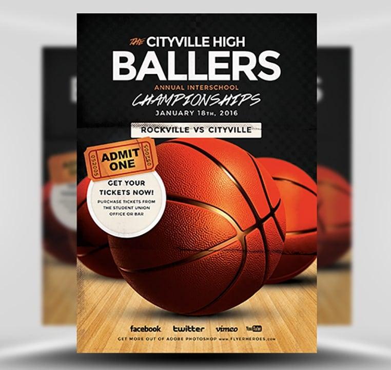 Basketball flyer template flyerheroes for Flyerheros