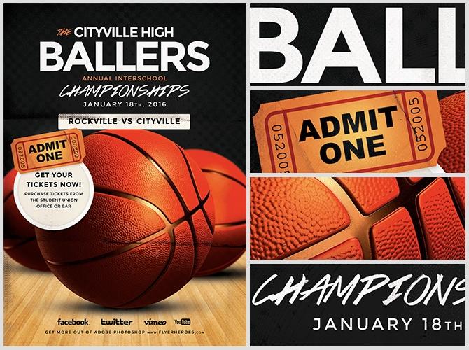 Basketball Flyer Template - FlyerHeroes