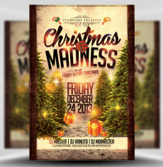 Christmas Madness Flyer Template 1