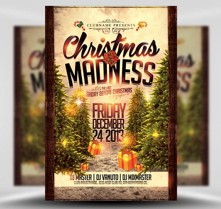 Christmas Madness Flyer Template  Flyerheroes