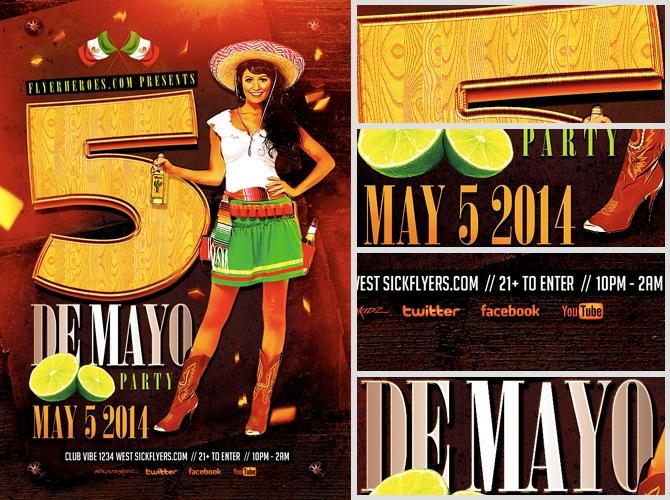 Cinco De Mayo Flyer Template - FlyerHeroes