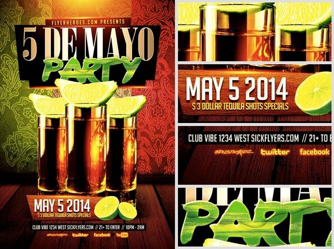 Cinco De Mayo Party Flyer Template - FlyerHeroes