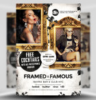 Framed & Famous Flyer Template 1