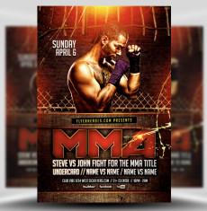 Mma Boxing Flyer Templates For Photoshop Flyerheroes