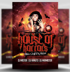 House of Horrors Flyer Template 1