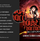 House of Horrors Flyer Template 3
