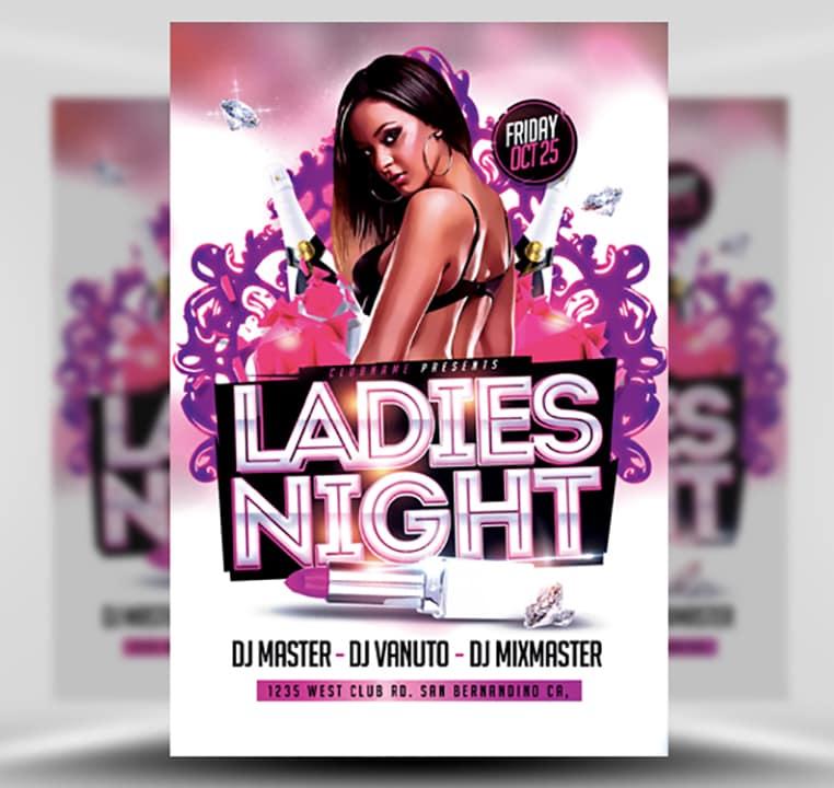 Poster ladies night 16+ Ladies