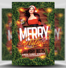 Merry Christmas Party Flyer Template 1