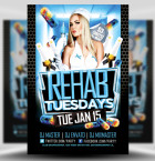 Rehab Tuesdays PSD Flyer Template