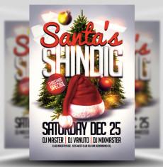 Santas Shindig Flyer Template 1