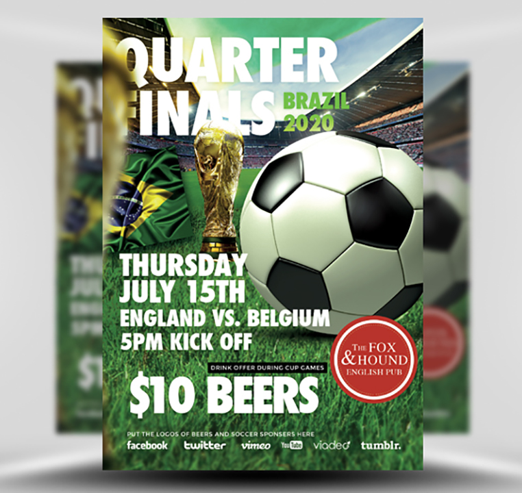 Soccer Flyer Template FlyerHeroes – Free Sports Flyer Templates