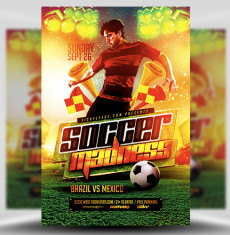 Soccer Madness Flyer Template 1