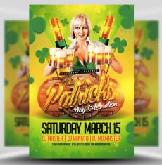 St Patrick's Day Celebrations Flyer Template 1
