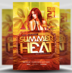 Summer Heat Flyer Template 1