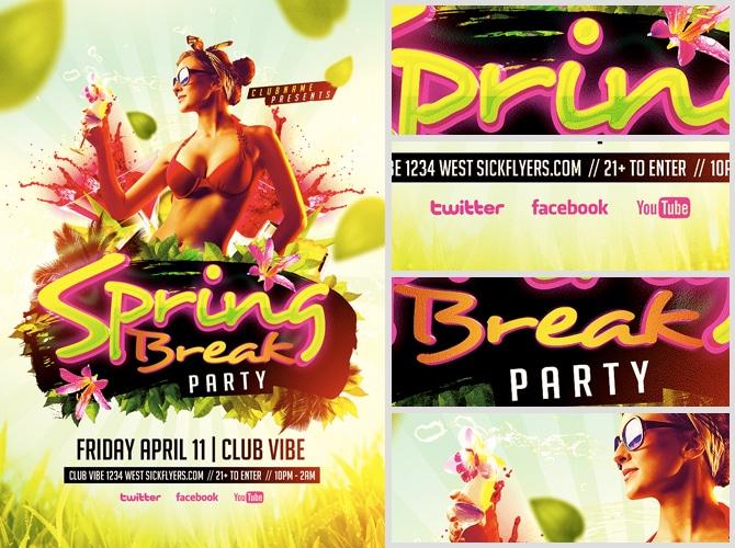 Spring Break Party Flyer Template FlyerHeroes – Spring Party Flyer