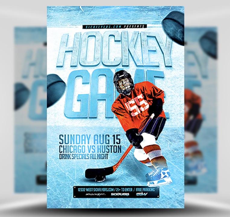 Ice Hockey Flyer Template Flyerheroes