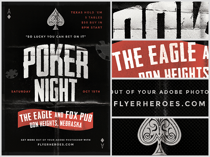 Poker flyer psd
