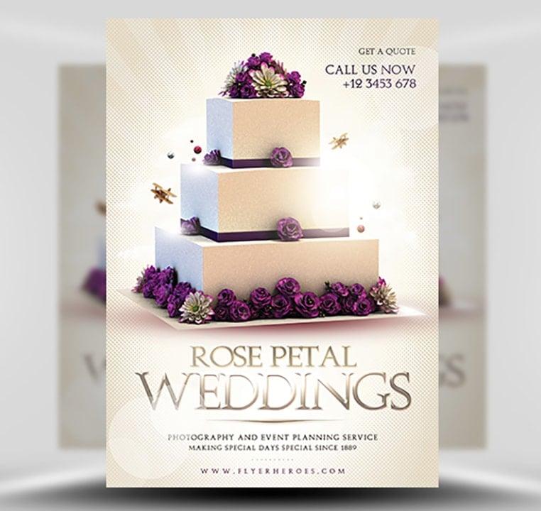 Wedding Flyer Template FlyerHeroes – Wedding Flyer